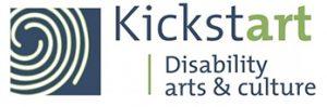 Kickstart Disability Arts & Culture Logo which looks like a fingerprint